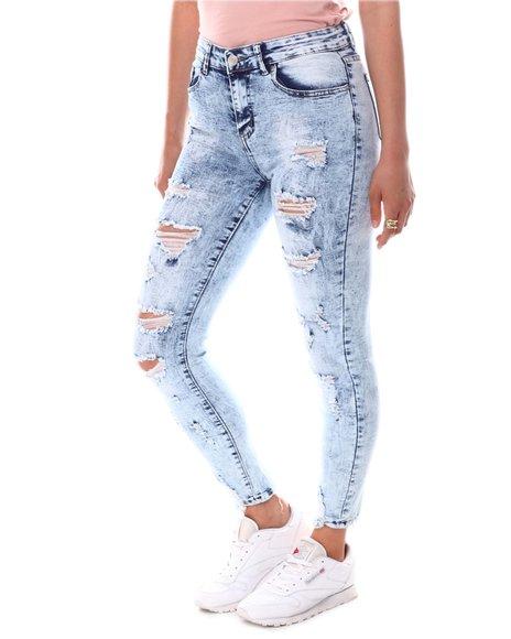 Fashion Lab - Distressed Acid Wash Jeans