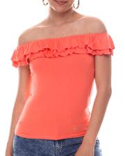 Women - Off Shoulder W/double Flounce-2609379