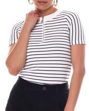 Women - Rib W /Stripe Zip Front-2609405