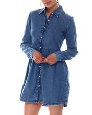 Women - Baby Doll Denim Dress-2609578