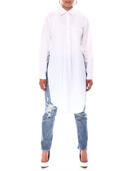 Fashion Lab - Slit Side Poplin Tunic