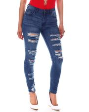 Women - High Waist Ripped Detail Jeans-2586508