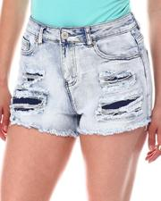 Women - Distressed Denim Shorts-2604284