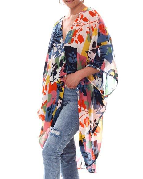 Fashion Lab - Button Down Kimono Sleeve Blouse