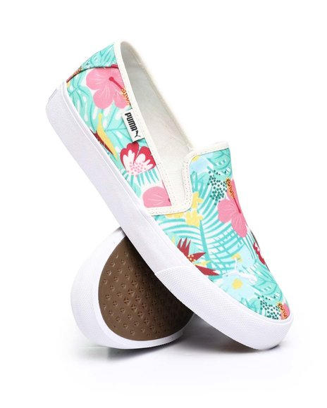 Puma - Bari Slip On Cat Tropical Punch Sneakers