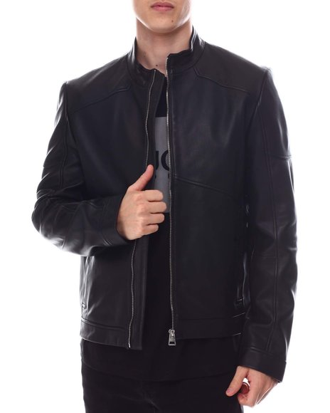 Hugo Boss - Lonus Moto Leather Jacket