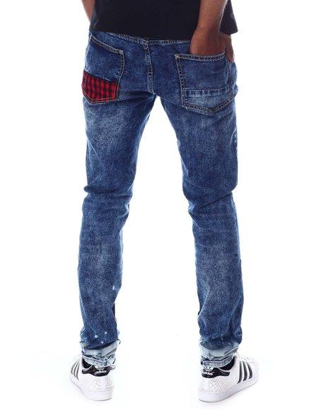 Rutherford - DJANGO Buffalo Plaid Bleached Skinny Fit Jean
