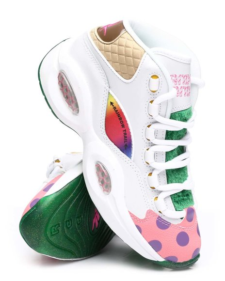 Reebok - Candy Land Question Mid Jr. Sneakers (4-7)