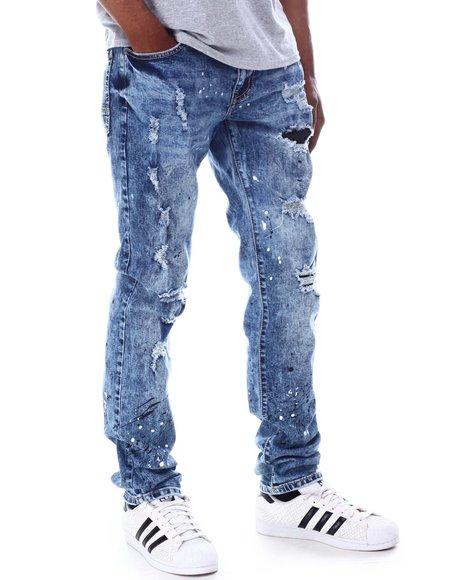Rutherford - Killian Skinny Fit Paint Splatter Jean