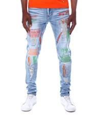 SWITCH - Rip and Repair Color Stitch Jean-2611152