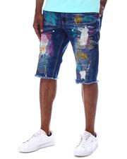 SWITCH - Distressed Paint Ripped Denim Short-2611209