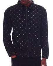 Buyers Picks - Gold Foil Bee LS Zip Woven Shirt-2610287