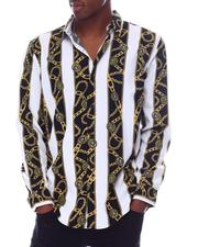 Button-downs - Gold Chain Ls Woven Shirt-2610292