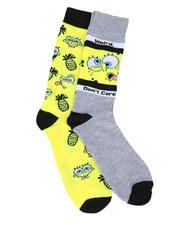 Socks - 2Pk Pineapple SpongeBob Crew Socks-2612728