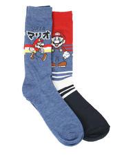 Socks - 2Pk Super Mario Crew Socks-2612744
