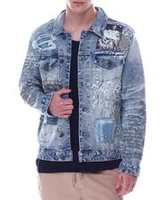 Denim Jackets - COLLAGE PATCH DENIM JACKET-2613337