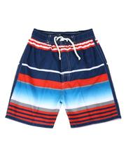 Swimwear - Striped Tie Waist Swim Trunks (4-7)-2613564