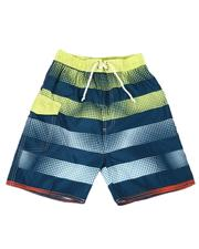 Swimwear - Striped Tie Waist Swim Trunks (8-18)-2613556
