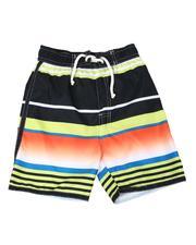 Swimwear - Striped Tie Waist Swim Trunks (4-7)-2613573