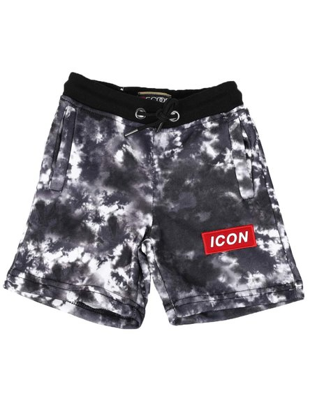 Arcade Styles - Icon Tie Dye Fleece Shorts (4-7)