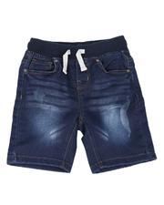 Tony Hawk - Rib Knit Distressed Denim Shorts (4-7)-2614097