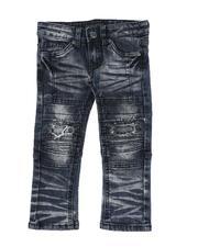 Jeans - Destructed Moto Jeans (2T-4T)-2613698