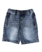 Bottoms - Knitted Denim Shorts (8-20)-2614130