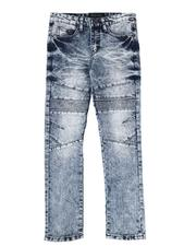 Arcade Styles - Washed Moto Jeans (8-18)-2613892