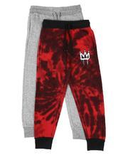 Arcade Styles - 2 Pack Printed & Marled Jogger Pants (8-18)-2613908