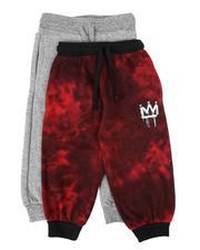 Sweatpants - 2 Pack Printed & Marled Jogger Pants (4-7)-2613917