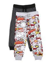 Sweatpants - 2 Pack Printed & Marled Jogger Pants (4-7)-2613932