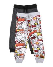 Sweatpants - 2 Pack Printed & Marled Jogger Pants (8-18)-2613937