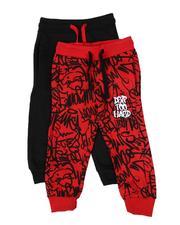 Sweatpants - 2 Pack Printed & Solid Jogger Pants (2T-4T)-2613960