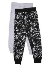 Arcade Styles - 2 Pack Printed & Solid Jogger Pants (8-18)-2613973