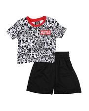 Infant & Newborn - 2 Pc All Over Print Ringer Tee & Mesh Shorts Set (Infant)-2614014