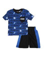 Sets - 2 Pc All Over Print 1 Pocket Ringer Tee & Mesh Shorts Set (Infant)-2614018