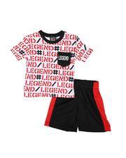 Infant & Newborn - 2 Pc All Over Print 1 Pocket Ringer Tee & Mesh Shorts Set (Infant)-2614022