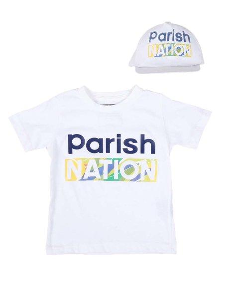 Parish - 2 Pc Box Logo Graphic T-Shirt & Baseball Cap Set (2T-4T)