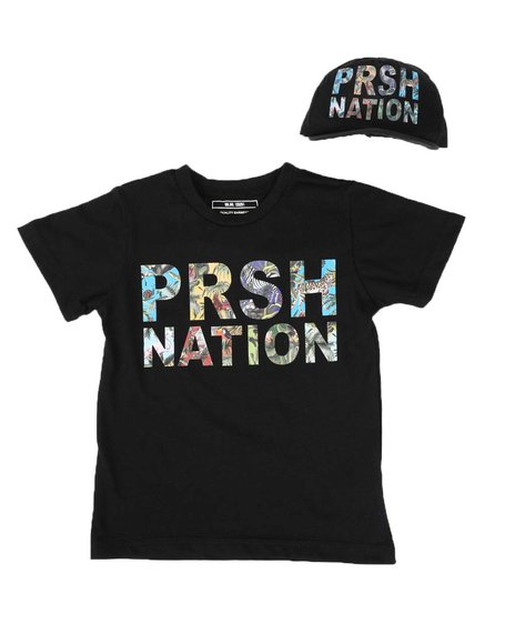 Parish - 2 Pc Graphic Logo T-Shirt & Baseball Cap Set (2T-4T)