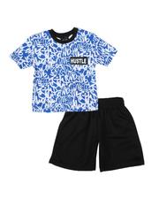 Boys - 2 Pc All Over Print Ringer Tee & Mesh Shorts Set (Infant)-2614009