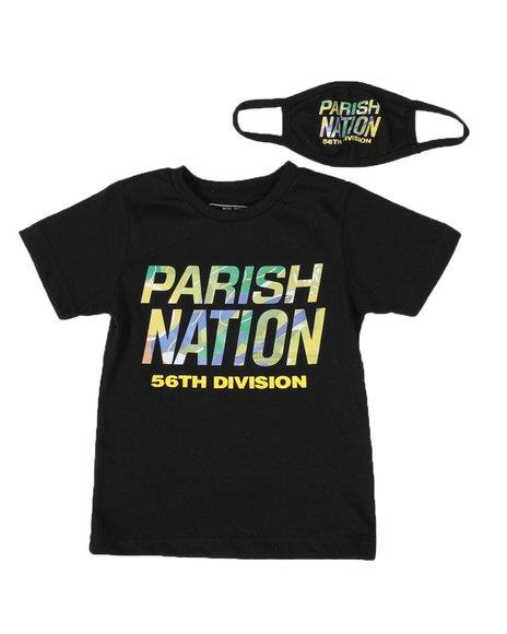 Parish - 2 Pc Graphic Logo T-Shirt & Face Mask Set (2T-4T)