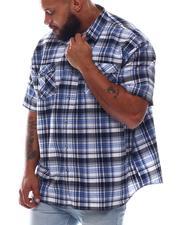 Button-downs - Plaid Short Sleeve Woven Shirt (B&T)-2615489
