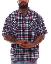 Button-downs - Plaid Short Sleeve Woven Shirt (B&T)-2615547