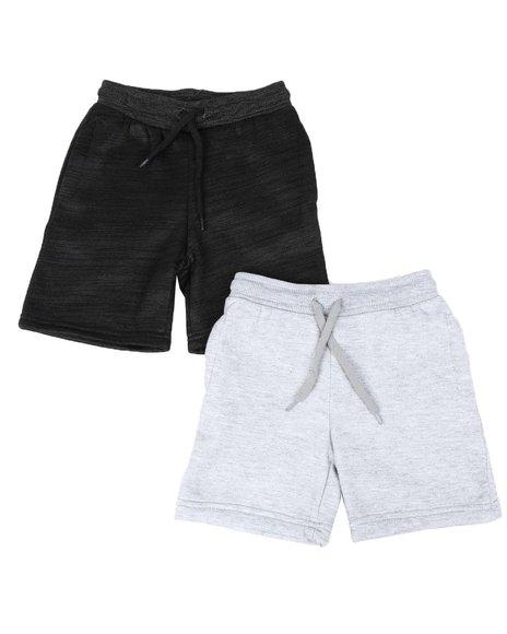 Arcade Styles - 2 Pk Marled & Solid Fleece Shorts (4-7)