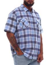 Button-downs - Plaid Short Sleeve Woven Shirt (B&T)-2615634