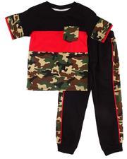Boys - 2 Pc Camo Tee & Jogger Pants (4-7)-2604077