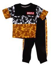 Boys - 2 Pc Tie Dye Tee & Jogger Pants (2T-4T)-2604215