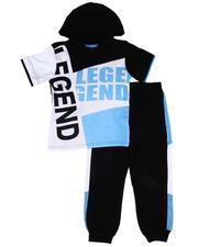 Boys - 2 Pc Hooded Tee & Jogger Pants Set (4-7)-2604550