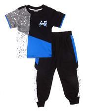 Boys - 2 Pc Paint Splatter Tee & Jogger Pants Set (2T-4T) -2604578