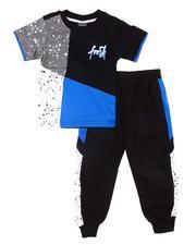 Boys - 2 Pc Paint Splatter Tee & Jogger Pants Set (4-7)-2604582